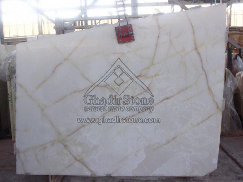 Spider White Onyx slab