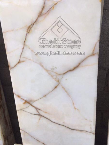 Spider White Onyx tile